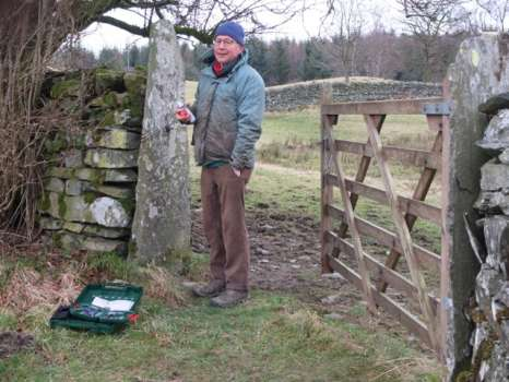 Hanging a new gate in Middle Field