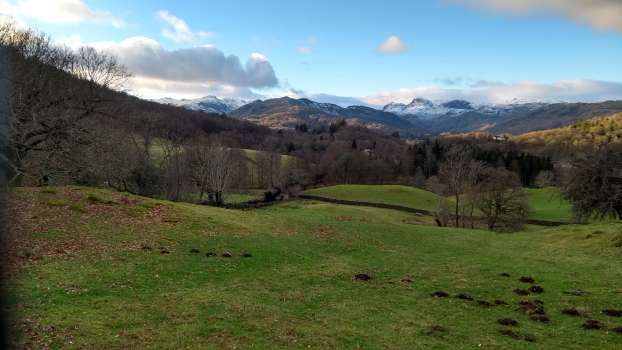 Looking down the Great Langdale valley
