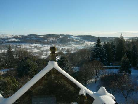 Looking over the Vale of Esthwaite from the top of the house