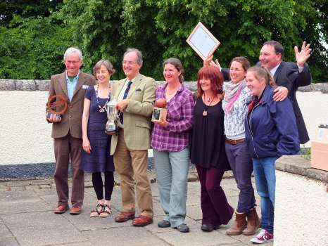 A very happy group of Cumbrian winners with far right two women from the Full Cycle project and next to them two others from the Bill Hogarth Trust