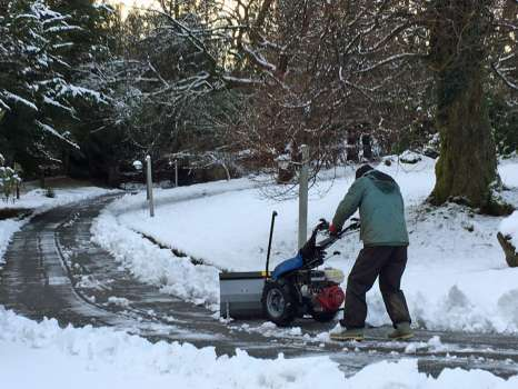Lovely as the snow is, we'll be glad to say goodbye to the back-breaking job of clearing the drive!